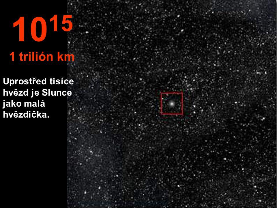 10 14 100 biliónů km Sluneční soustava se zdá být malou.