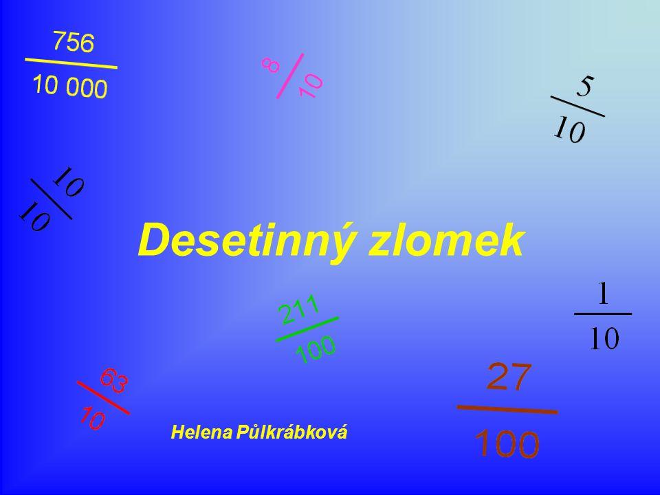 Desetinný zlomek Helena Půlkrábková