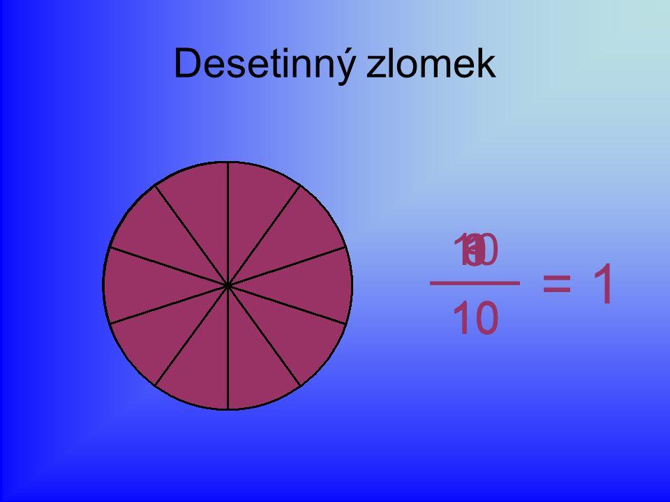 Desetinný zlomek 1 10 6 3 9 = 1