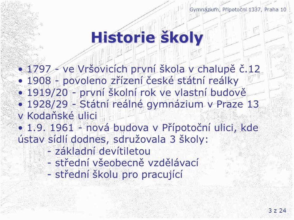 14 z 24 Kurzy a výjezdy Gymnázium, Přípotoční 1337, Praha 10 1.