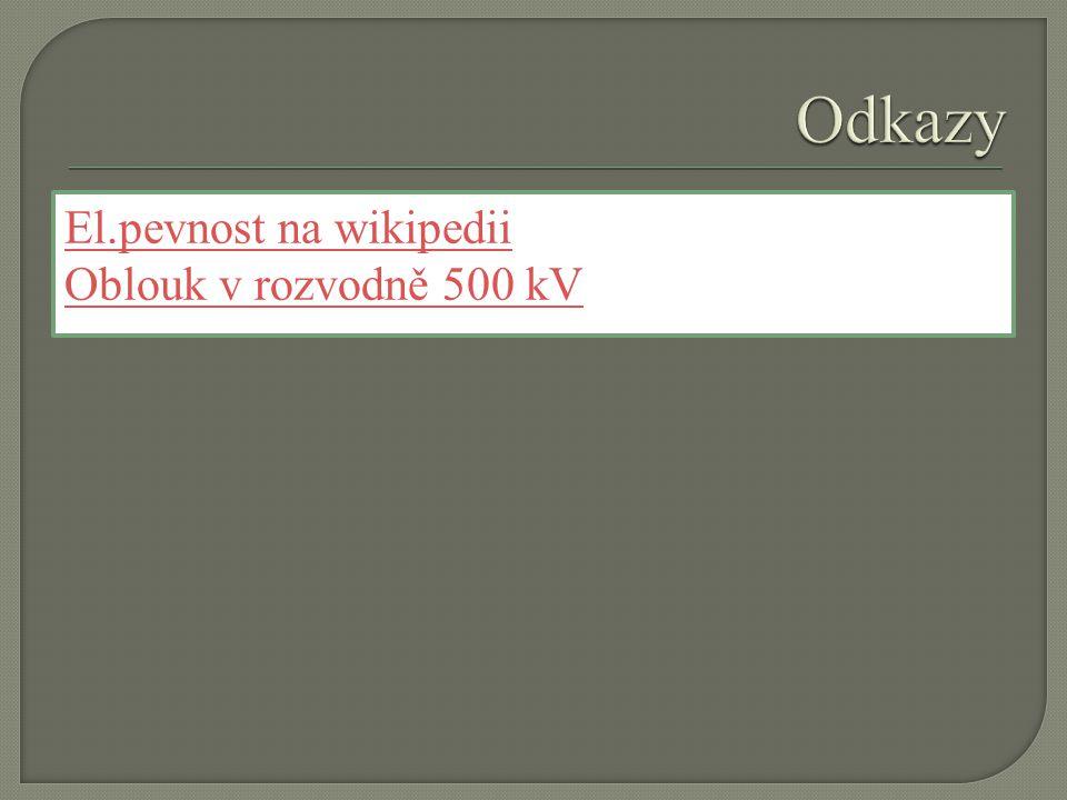 El.pevnost na wikipedii Oblouk v rozvodně 500 kV