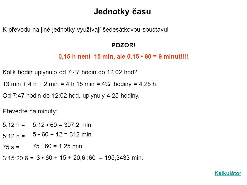 Jednotky rychlosti Nejčastěji používanými jednotkami rychlosti jsou: 1 m/s a 1 km/h Protože 1 h = 3600 a 3 600 m = 3,6 km platí: 1 m/s = 3 600m/3 600s = 3,6 km/1 h 1 km/h = 1000 m/ 3 600 s = 0,28 m/s = 0,3m/s Motocyklista urazil za sekundu 20 m.