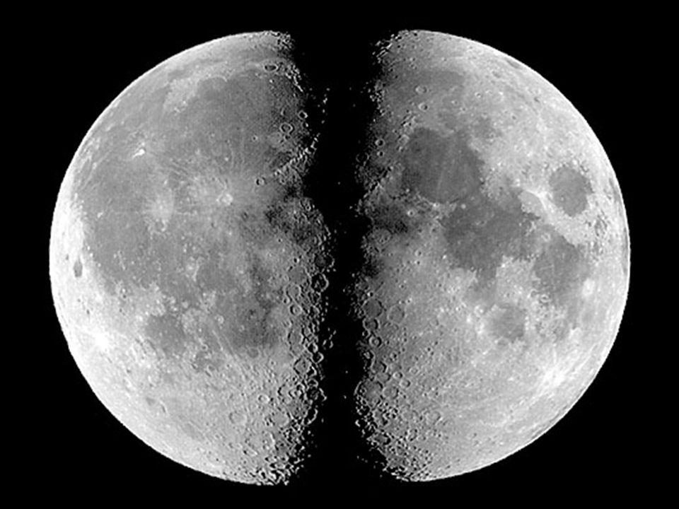 Měsíc má vázanou rotaci se Zemí, ale díky libraci (pohupování) můžeme sledovat až 60 % jeho povrchu tmavá místa – měsíční moře, světlá – měsíční pevnina nejsnáze pozorovatelným kosmickým objektem jediné těleso, na kterém lze pouhým okem pozorovat povrchové útvary poměrově je největším měsícem ve Sluneční soustavě zatmění struktura: - tlustá kůra – 45 km - pevná litosféra – 1000 km - těžiště posunuto o 2 km od středu Země Měsíc