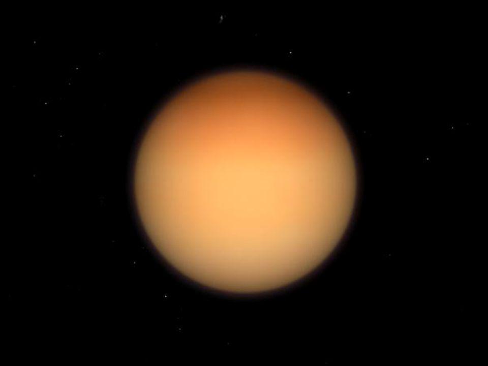 sonda Cassini Titan – největší Saturnův měsíc, průměr 5150 km přistálo zde pouzdro Huygens má hustou atmosféru, kapalnou vodu zde zastupuje směs metanu, etanu a dusíkatých sloučenin Enceladus – průměr 504 km jev kryovulkanismu – gejzíry až 100m vysoké má atmosféru – 91% vodní pára, 4% N, 3,2% CO 2, 1,7% CH 4 Saturn Měsíce
