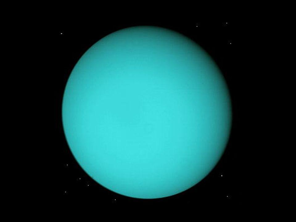 v roce 1986 sonda Voyager 2 velký planetární zárodek (až 20 M Z ) – podobně i Neptun pozdější vývoj -> méně plynného materiálu, jedná se tedy spíše o ledové obry atmosféra – 83 % H 2, 15 % He, 2 % CH 4 tloušťka 500 – 1000 km rychlost proudění v atmosféře až 800 km/h – ne na rovníku, ale na 60 ° zš Zajímavosti Sluneční soustavy Uran