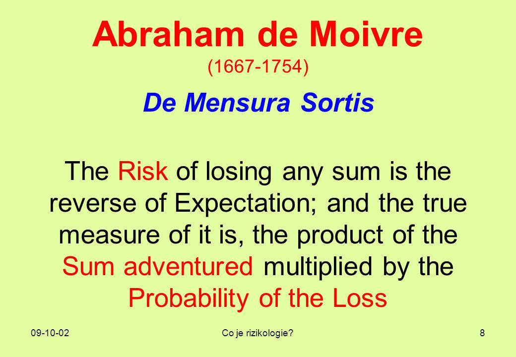 09-10-02Co je rizikologie?19 Tři managementy