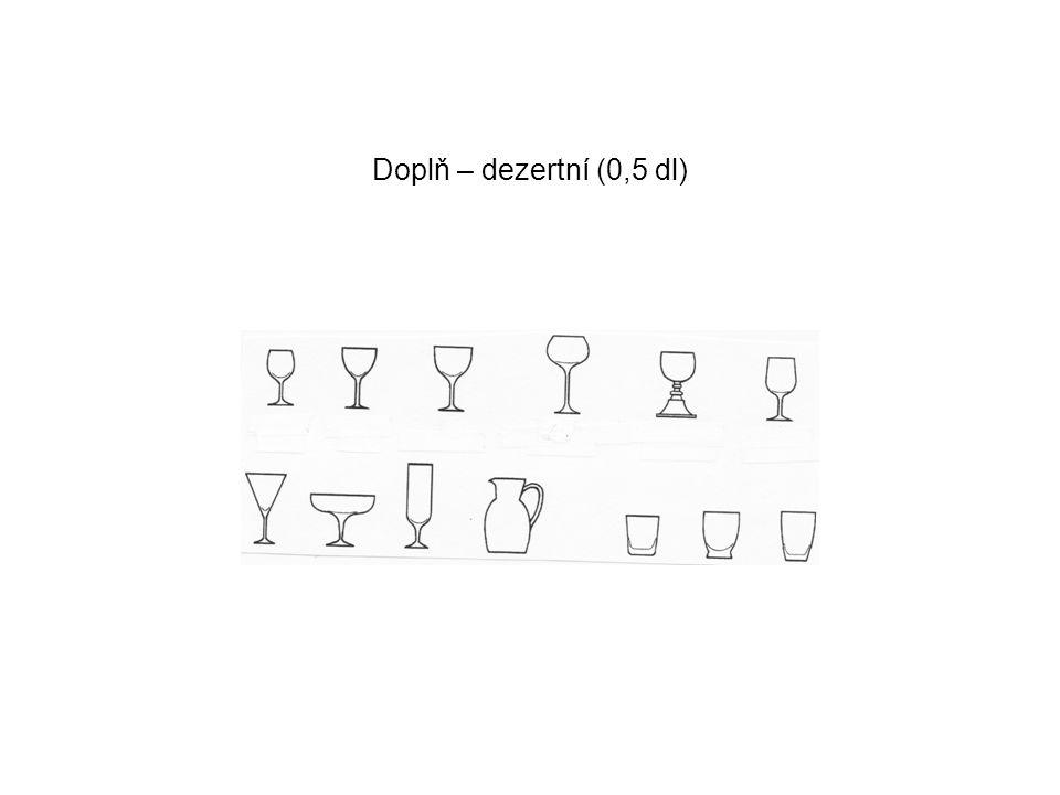 Rozprava o používání inventáře na studené nápoje: Omytí Okapání – savá podložka (ubrus) Leštění Uložení Vlastní použití