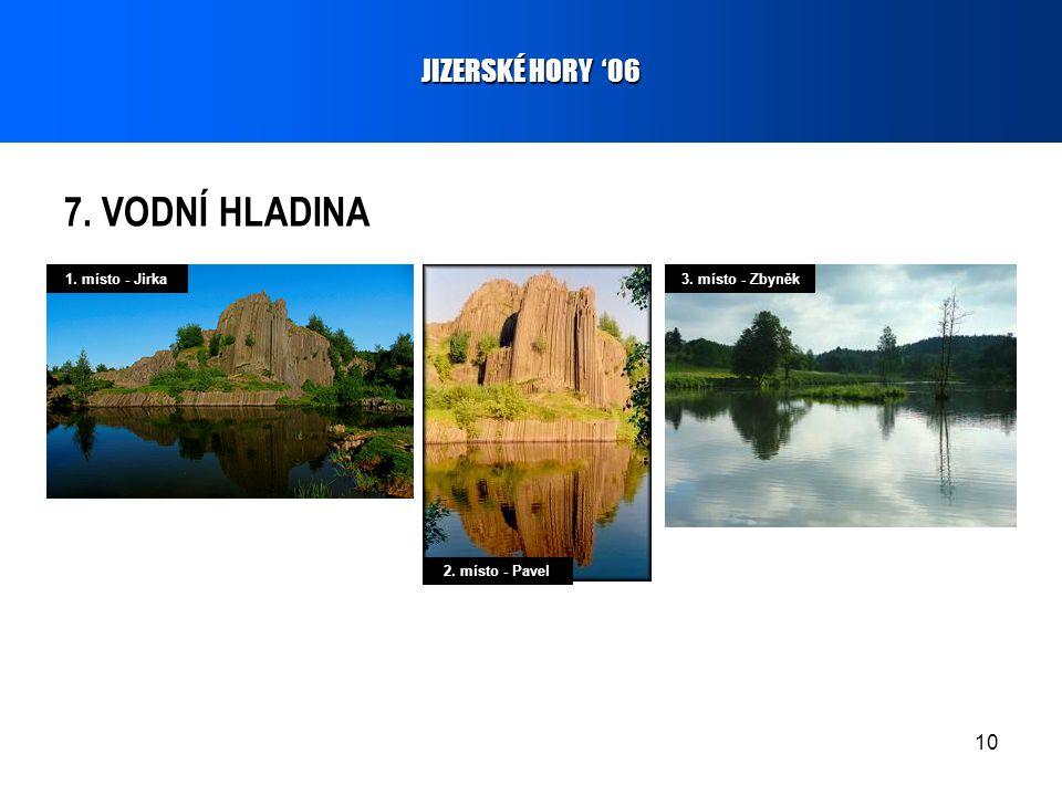 10 7. VODNÍ HLADINA JIZERSKÉ HORY '06 1. místo - Jirka 2. místo - Pavel 3. místo - Zbyněk
