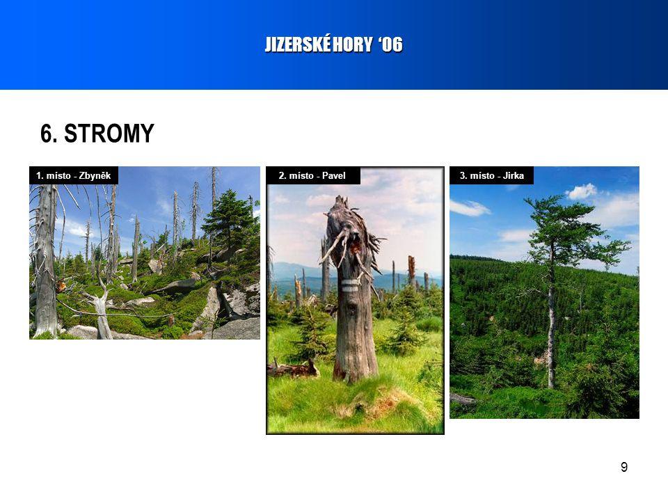 9 6. STROMY JIZERSKÉ HORY '06 1. místo - Zbyněk2. místo - Pavel3. místo - Jirka