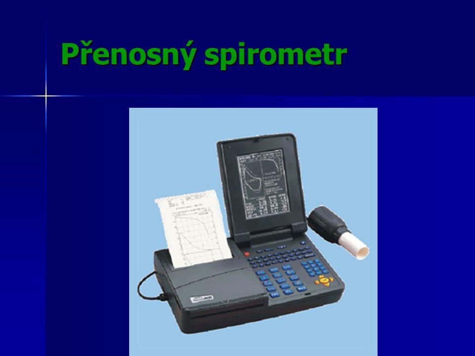 Přenosný spirometr