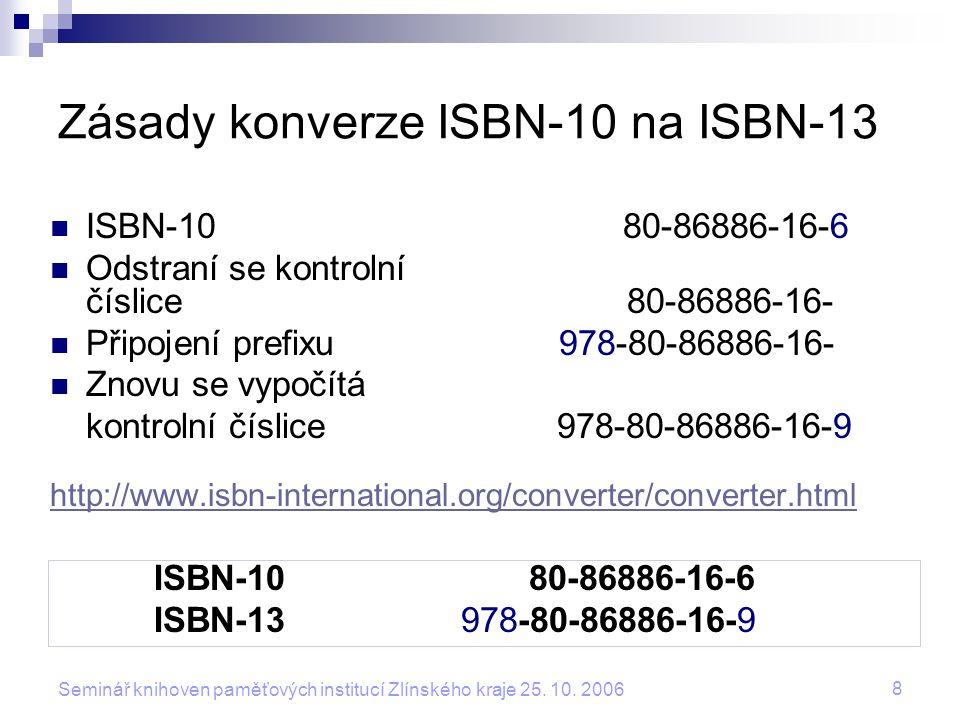 19 Seminář knihoven paměťových institucí Zlínského kraje 25.