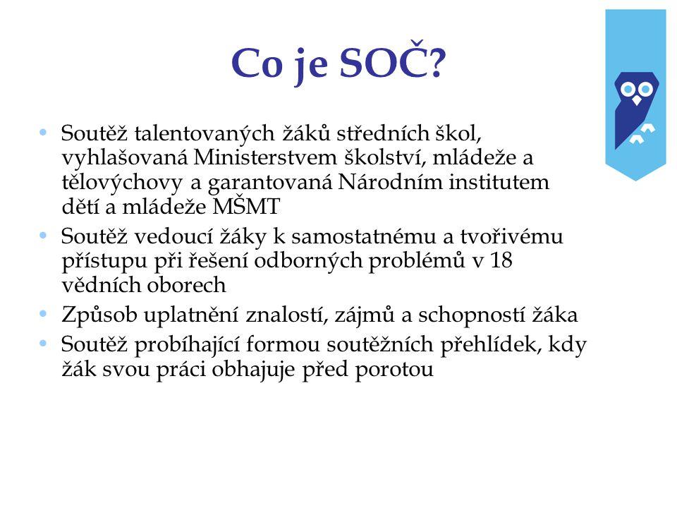 Kdo soutěží v SOČ .