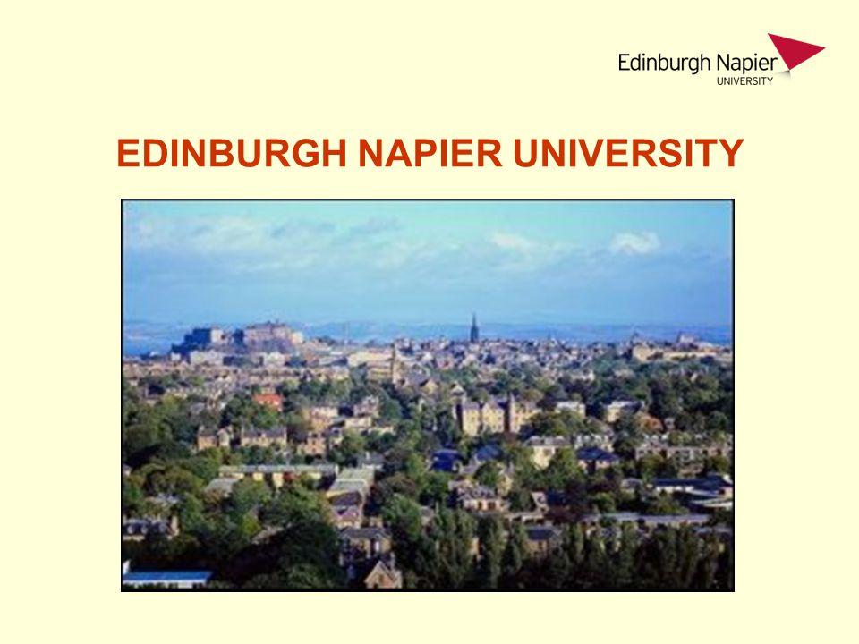 Kde se nachází Edinburgh Napier University 650 km – 1 hodina letu z Londýna