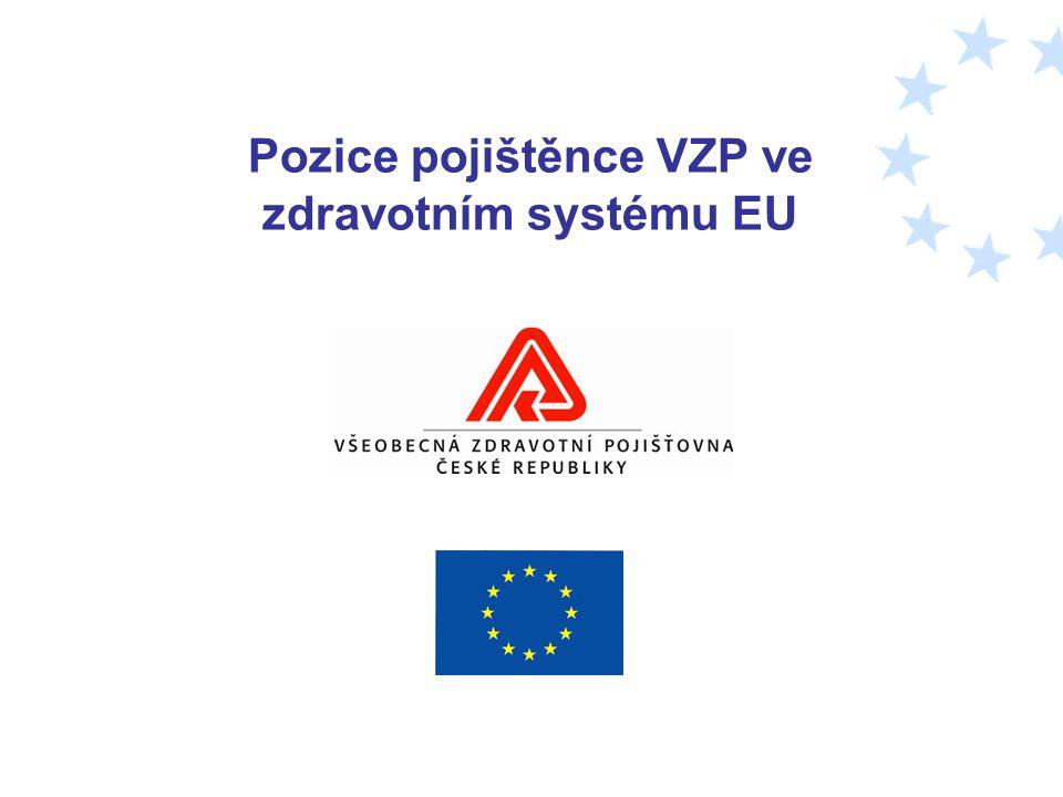 Pozice pojištěnce VZP ve zdravotním systému EU