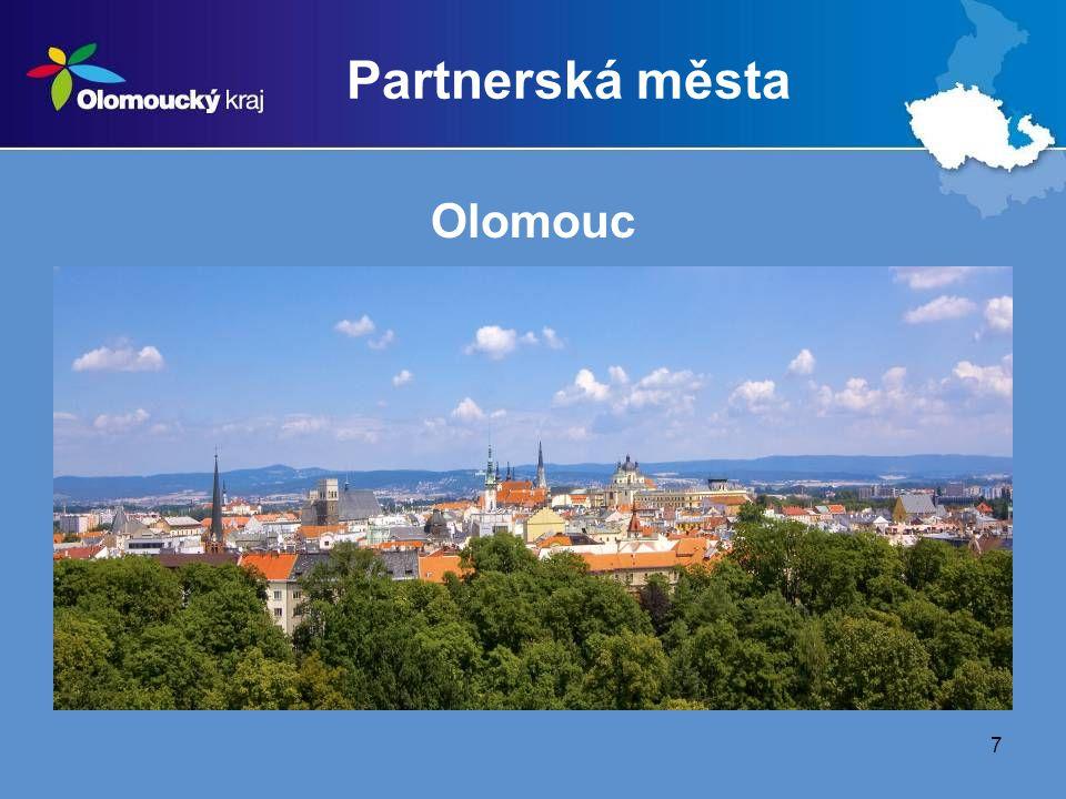 8 Partnerská města Prostějov