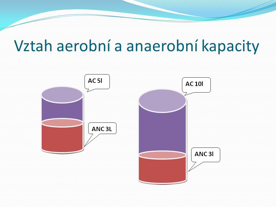 Vztah aerobní a anaerobní kapacity AC 5l ANC 3L AC 10l ANC 3l