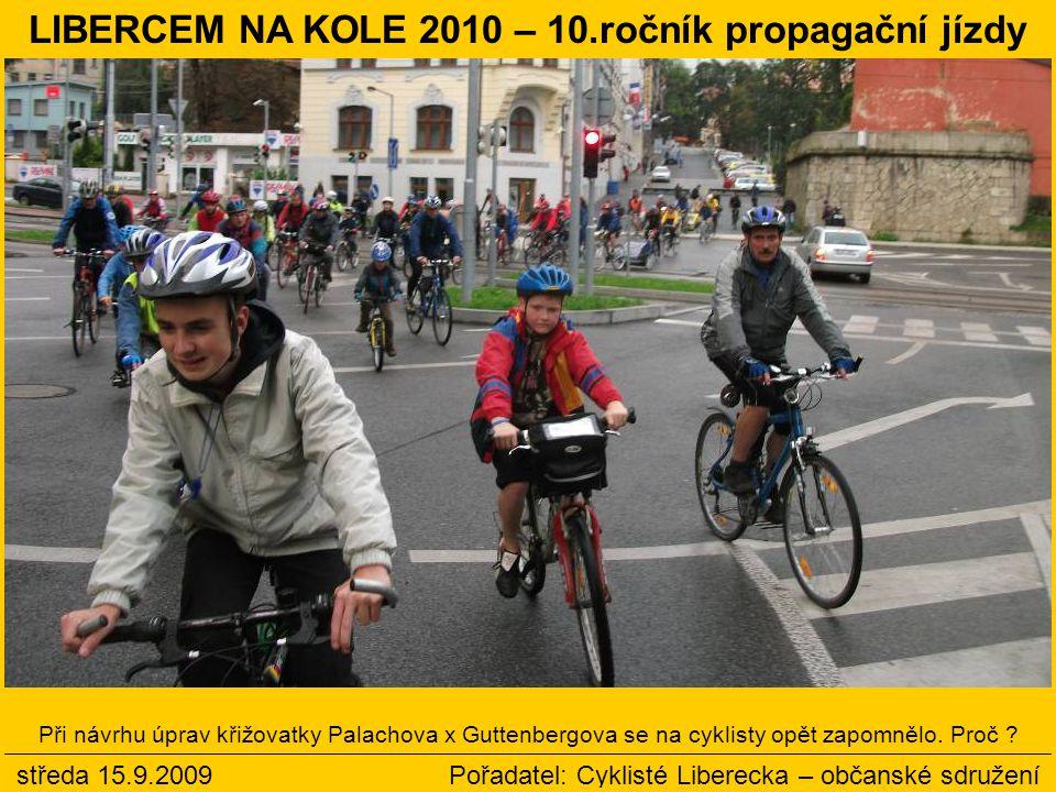 Při návrhu úprav křižovatky Palachova x Guttenbergova se na cyklisty opět zapomnělo.