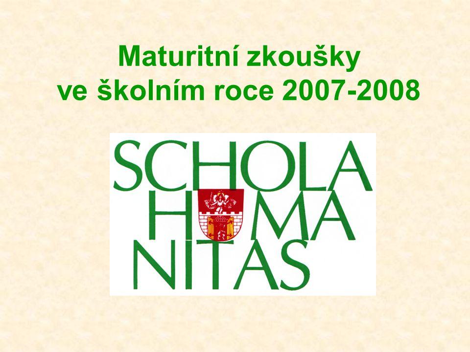Maturitní zkoušky ve školním roce 2007-2008