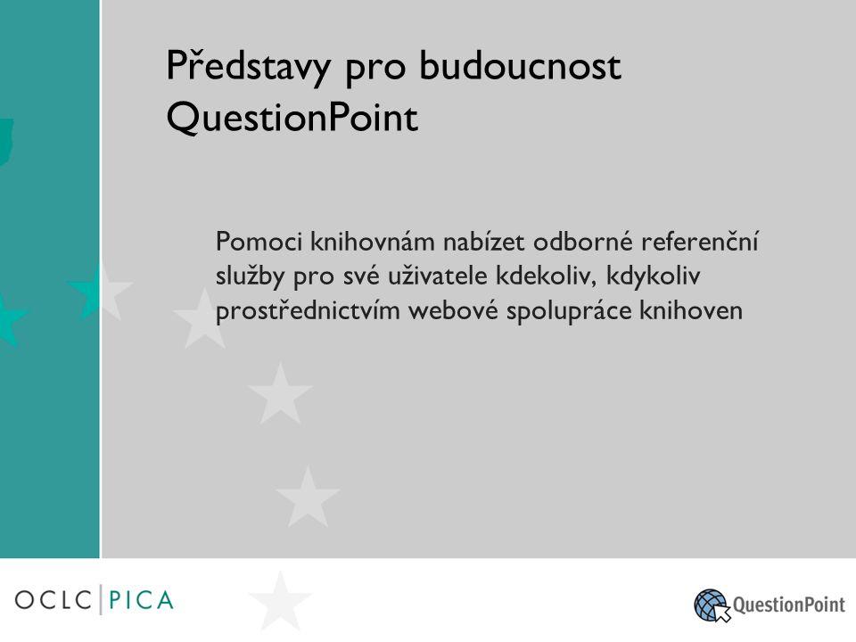 Představy pro budoucnost QuestionPoint Pomoci knihovnám nabízet odborné referenční služby pro své uživatele kdekoliv, kdykoliv prostřednictvím webové spolupráce knihoven