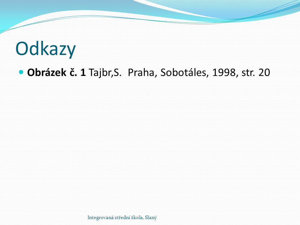 Odkazy Obrázek č. 1 Tajbr,S. Praha, Sobotáles, 1998, str. 20 Integrovaná střední škola, Slaný