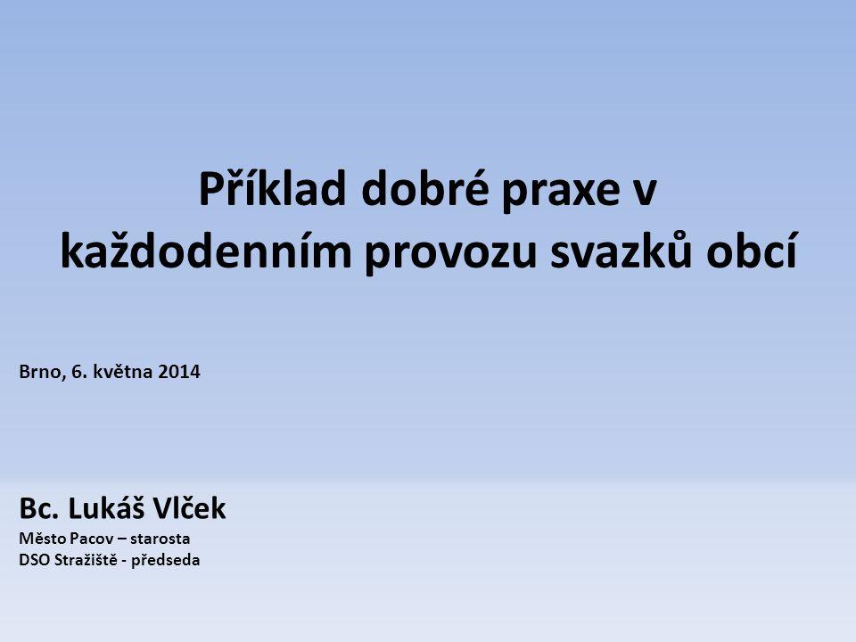 Příklad dobré praxe v každodenním provozu svazků obcí Brno, 6.