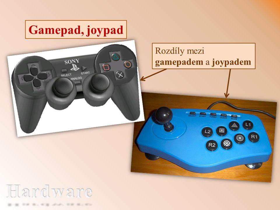 Gamepad, joypad Rozdíly mezi gamepadem a joypadem