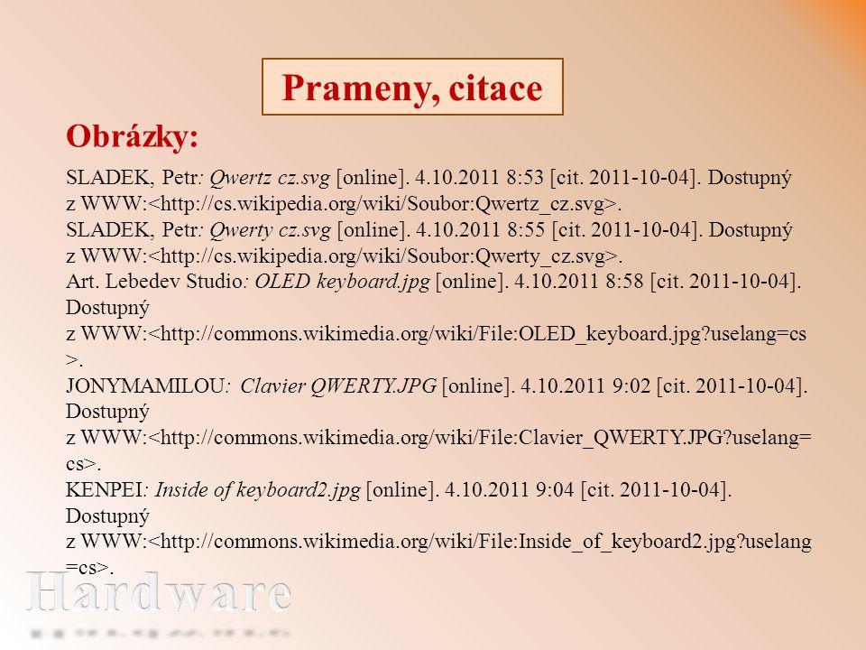 Prameny, citace Obrázky: SLADEK, Petr: Qwertz cz.svg [online].