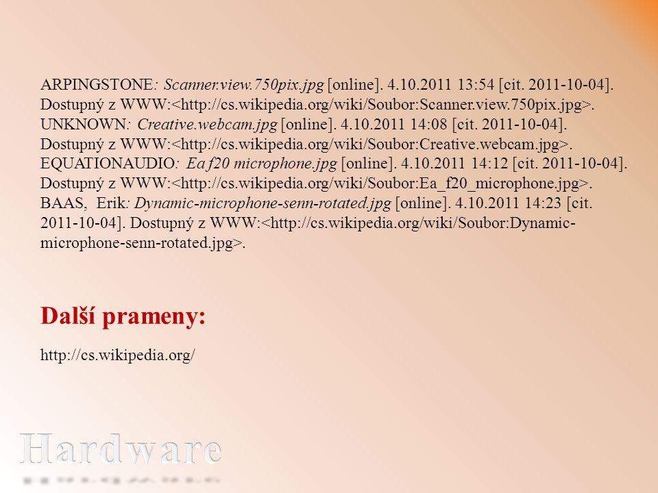 Další prameny: http://cs.wikipedia.org/ ARPINGSTONE: Scanner.view.750pix.jpg [online].