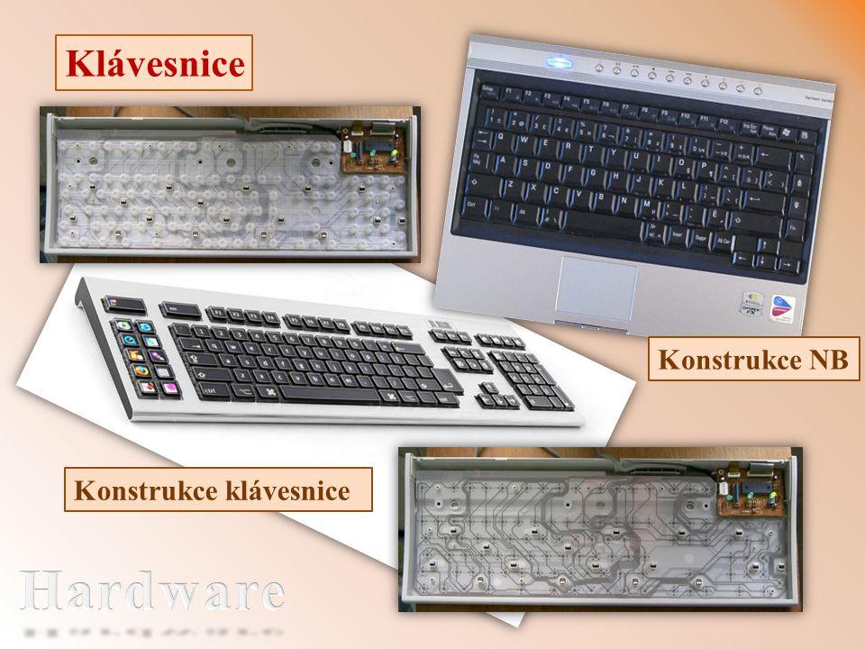 Klávesnice Konstrukce klávesnice Konstrukce NB