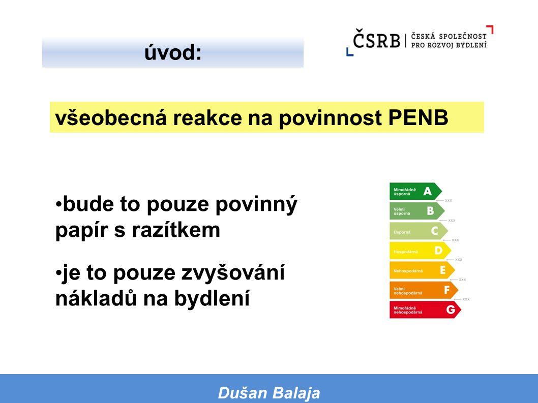žádnou úsporu energie to nepřinese pokud to úsporu energie přinese, tak bude kompenzována zvýšením ceny od dodavatelů všeobecná reakce na povinné měření Dušan Balaja úvod: