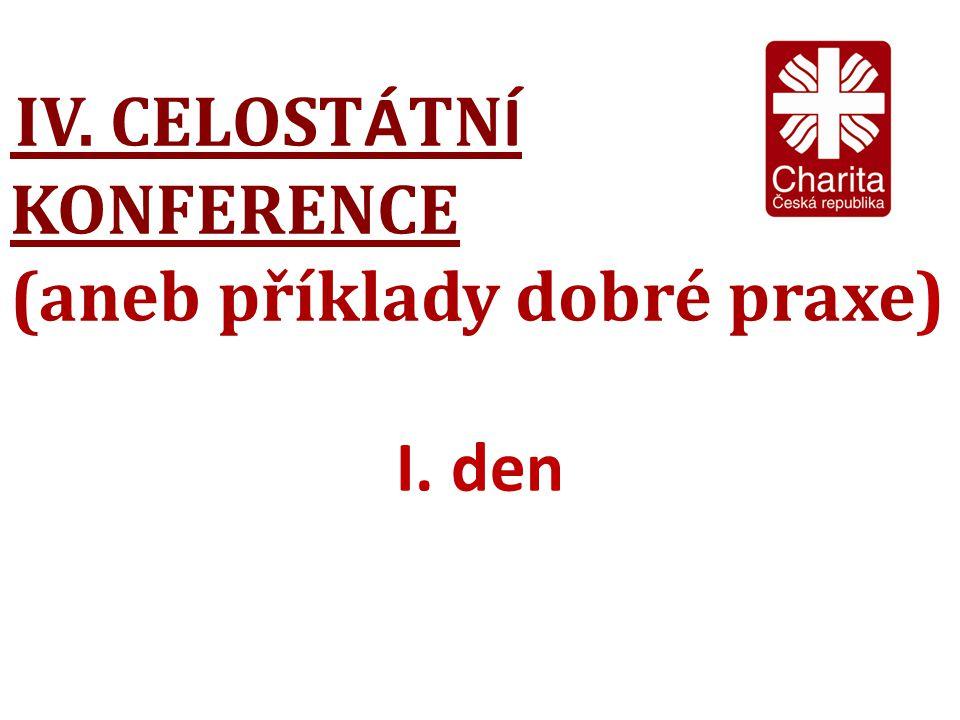 IV. CELOST Á TN Í KONFERENCE (aneb příklady dobré praxe) I. den