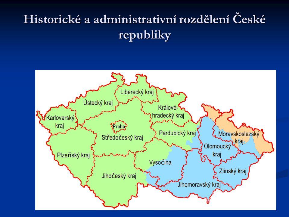 Historické a administrativní rozdělení České republiky