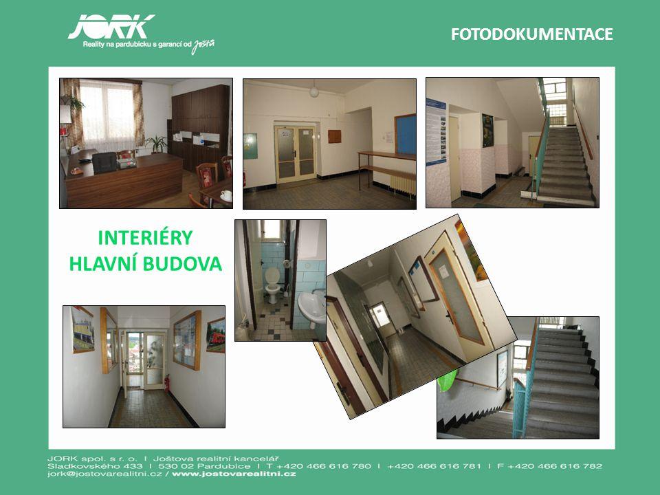 FOTODOKUMENTACE INTERIÉRY HLAVNÍ BUDOVA