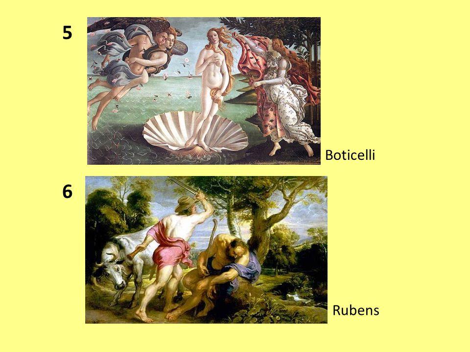 7 Renoir 8 Boticelli