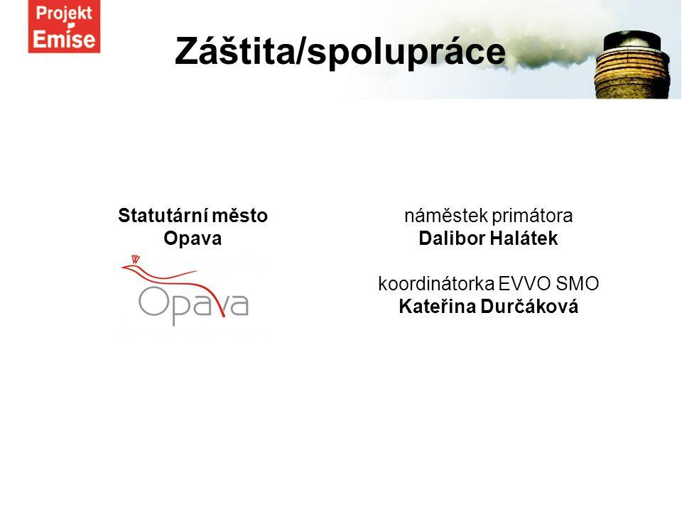 Statutární město Opava náměstek primátora Dalibor Halátek koordinátorka EVVO SMO Kateřina Durčáková Záštita/spolupráce