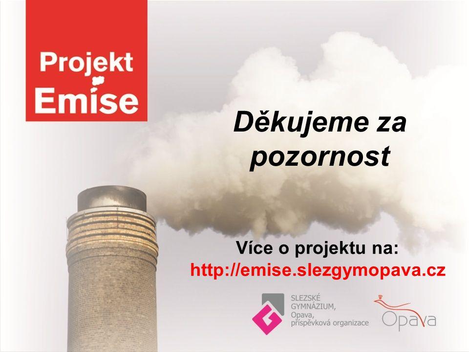 Děkujeme za pozornost Více o projektu na: http://emise.slezgymopava.cz