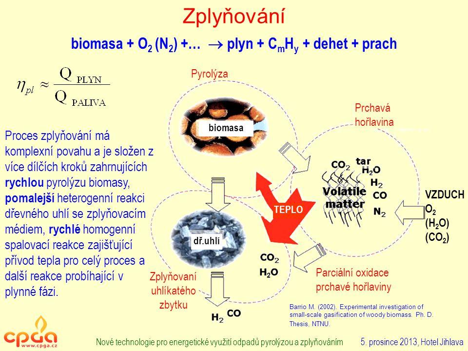 Zplyňování Nové technologie pro energetické využití odpadů pyrolýzou a zplyňováním 5.