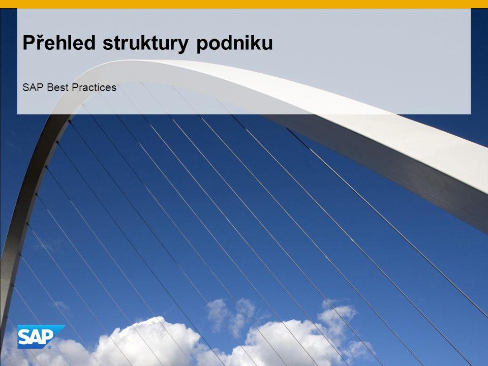 Přehled struktury podniku SAP Best Practices