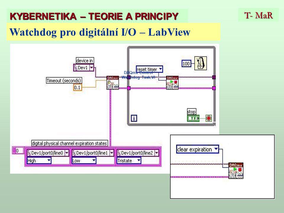 DAQmx Control Watchdog Task.VI T- MaR KYBERNETIKA – TEORIE A PRINCIPY Watchdog pro digitální I/O – LabView