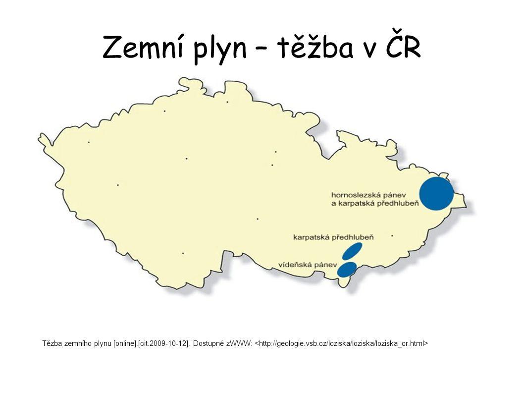Zemní plyn – těžba v ČR Tězba zemního plynu [online].[cit.2009-10-12]. Dostupné zWWW: