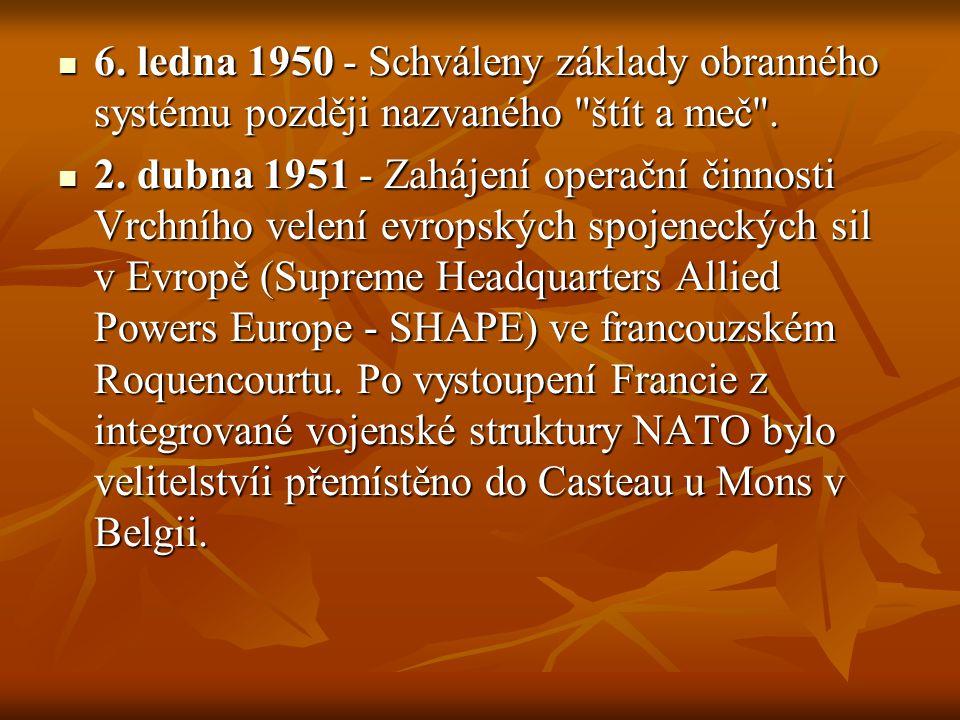6. ledna 1950 - Schváleny základy obranného systému později nazvaného