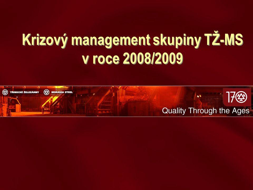 Krizový management skupiny TŽ-MS v roce 2008/2009