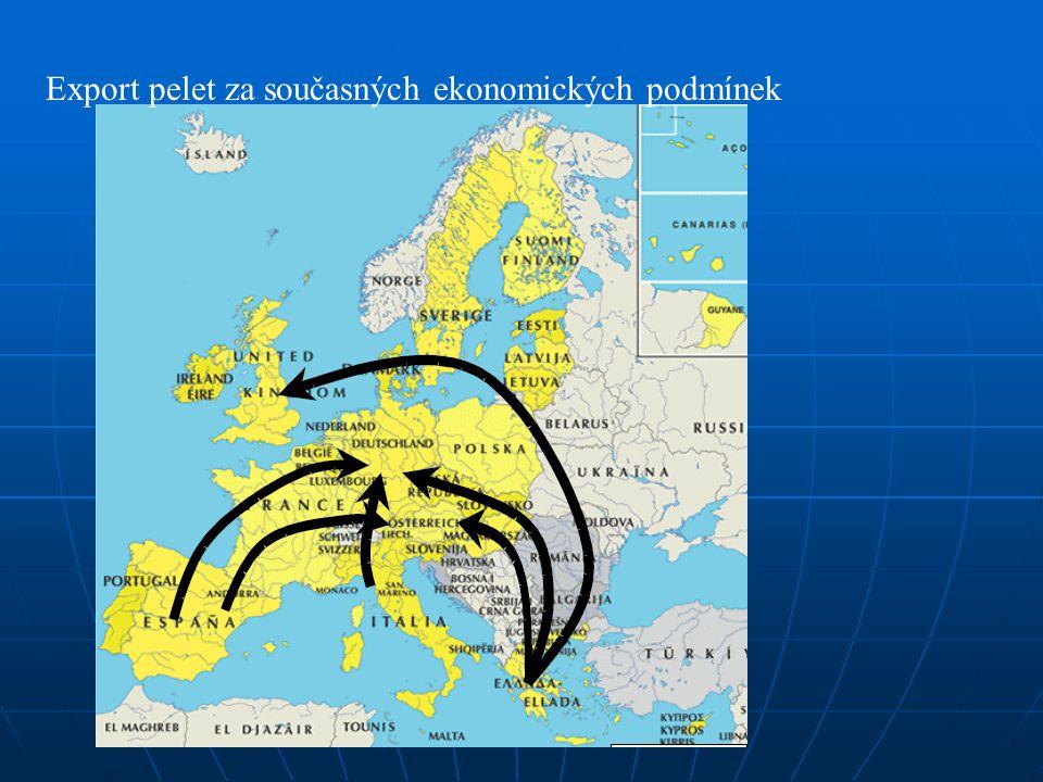 Export pelet za současných ekonomických podmínek