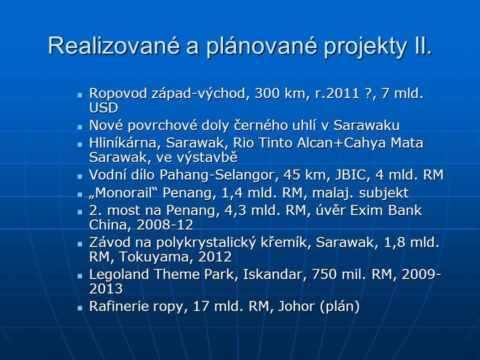 Realizované a plánované projekty II. Ropovod západ-východ, 300 km, r.2011 ?, 7 mld. USD Ropovod západ-východ, 300 km, r.2011 ?, 7 mld. USD Nové povrch
