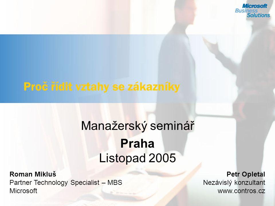 © Ing.Petr Opletal Význam zákazníků Nejdůležitější pojmy a východiska Základní principy řízení.