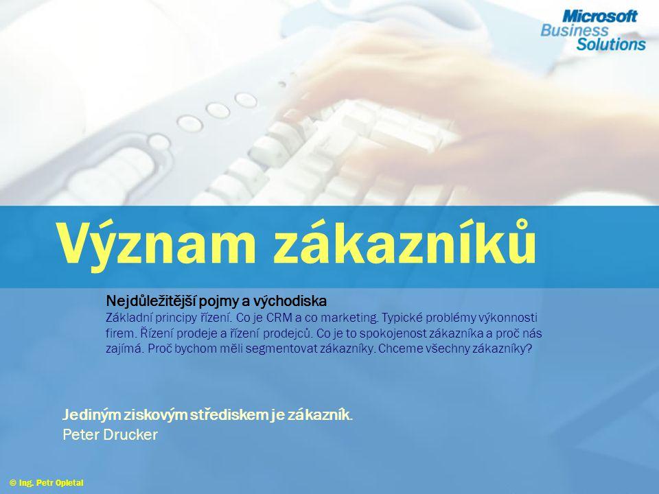 Proč řídit vztahy se zákazníky © Ing. Petr Opletal Struktura podnikové strategie a způsobu její realizace CRM