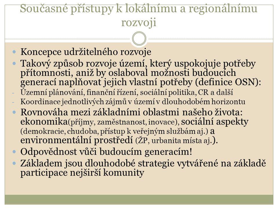 Principy TUR v evropské a české legislativě Maastrichtská smlouva (1993) Aalborgská charta (1994) Lipská charta o udržitelných evropských městech (2007) Strategie udržitelného rozvoje EU Strategie udržitelného rozvoje České republiky (2004) Rozvojové strategie na úrovni obcí, měst a krajů