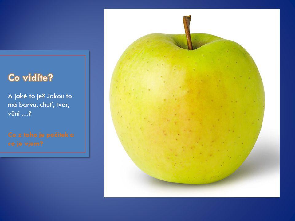 A jaké to je? Jakou to má barvu, chuť, tvar, vůni …? Co z toho je počitek a co je vjem?