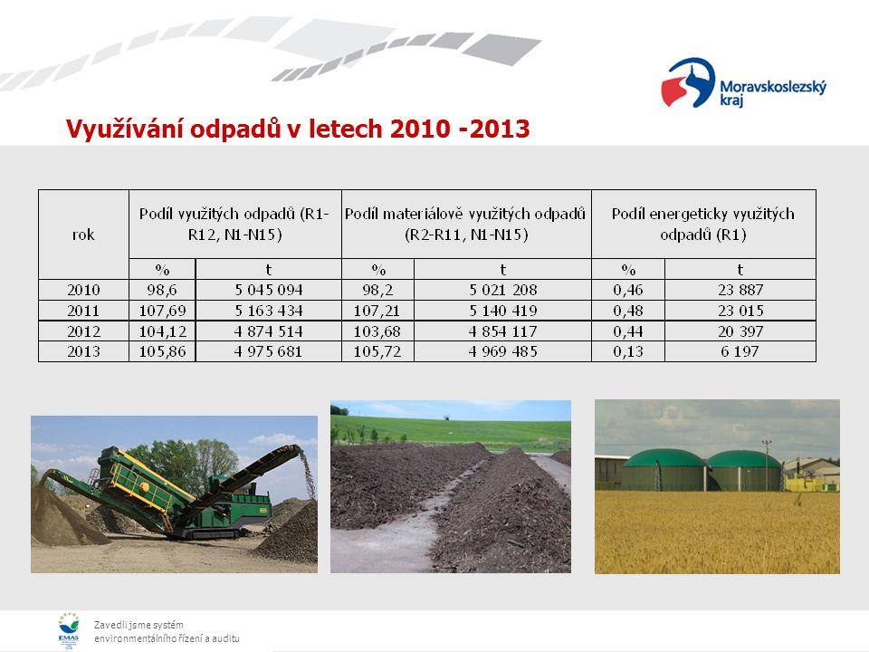 Zavedli jsme systém environmentálního řízení a auditu Využívání odpadů v letech 2010 -2013