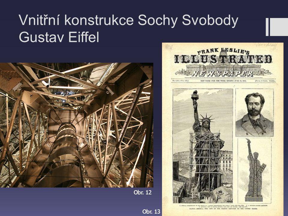 Vnitřní konstrukce Sochy Svobody Gustav Eiffel Obr. 12 Obr. 13